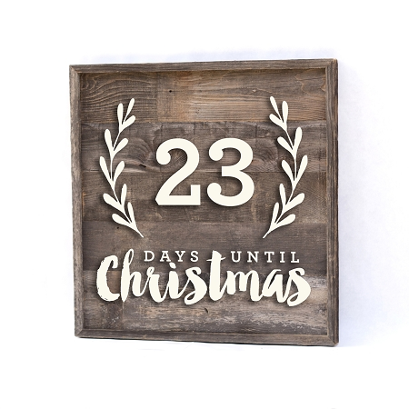 Countdown To Christmas Sign.Christmas Countdown