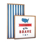 Home of the brave (map) – Fourth of July Set of 2