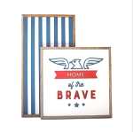 Home of the Brave (eagle) – Fourth of July Set of 2
