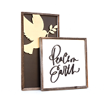 Peace on Earth + Gold dove – Christmas 2020 Set of 2