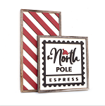 The North Pole Express + stripes – Christmas 2020 Set of 2
