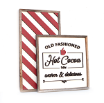 Hot Cocoa + stripes – Christmas 2020 Set of 2
