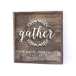 Gather with Family Name