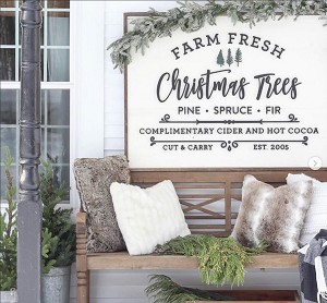 "Christmas Trees – 48""x36"" (Kindred Vintage)"