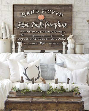 "Pumpkin Patch – 48""x36"" (Vintage Porch)"